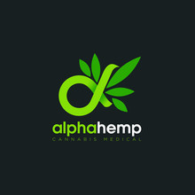 Logo Alpha Hemp, With Symbolic...