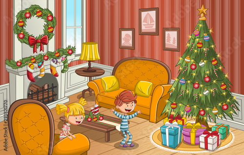 Happy Cartoon Children Looking At Christmas Tree With Gifts Buy This Stock Vector And Explore Similar Vectors At Adobe Stock Adobe Stock Free interactive exercises to practice online or download as pdf to print. adobe stock