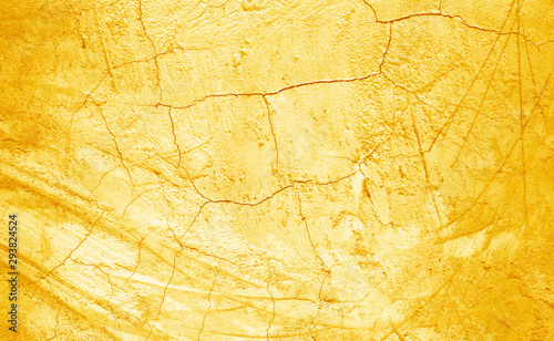 Photo  Wall plaster gold texture background
