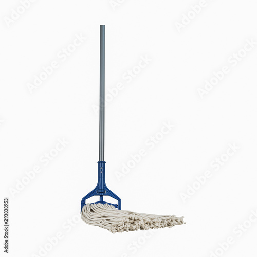 Industrial Heavy Duty Mop with Handle blue and grey Fototapeta