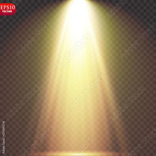 Fototapeta Vector Spotlights. Scene. Light Effects. obraz na płótnie