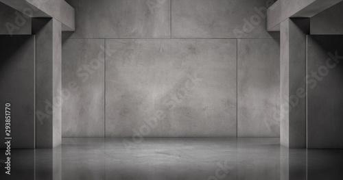 Photo Moderne Beton Wand mit Marmor Boden Stein Platten Architektur Hintergrund Kuliss