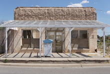 An Abandoned Saloon In West Texas On A Sunny Summer Day
