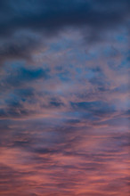 Amazing Sky With Down Clouds A...