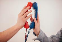 _ouple Holding Telephone Recei...