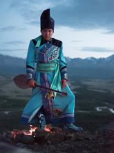 TIbetan Or Altay Man Playing O...