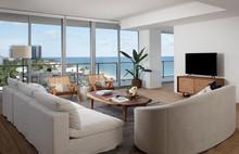 Miami Apartment Family Room Interior Day