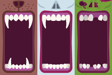 Halloween Banners Set With Ope...