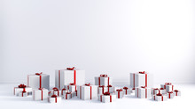 Red Ribbon White Gift Boxes