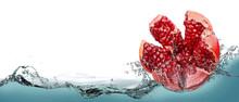 Pomegranate Fruit In Spray Of ...