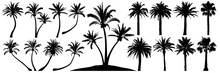 Palm Trees Silhouette. Coconut...