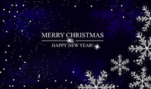Christmas And New Year Navy Bl...