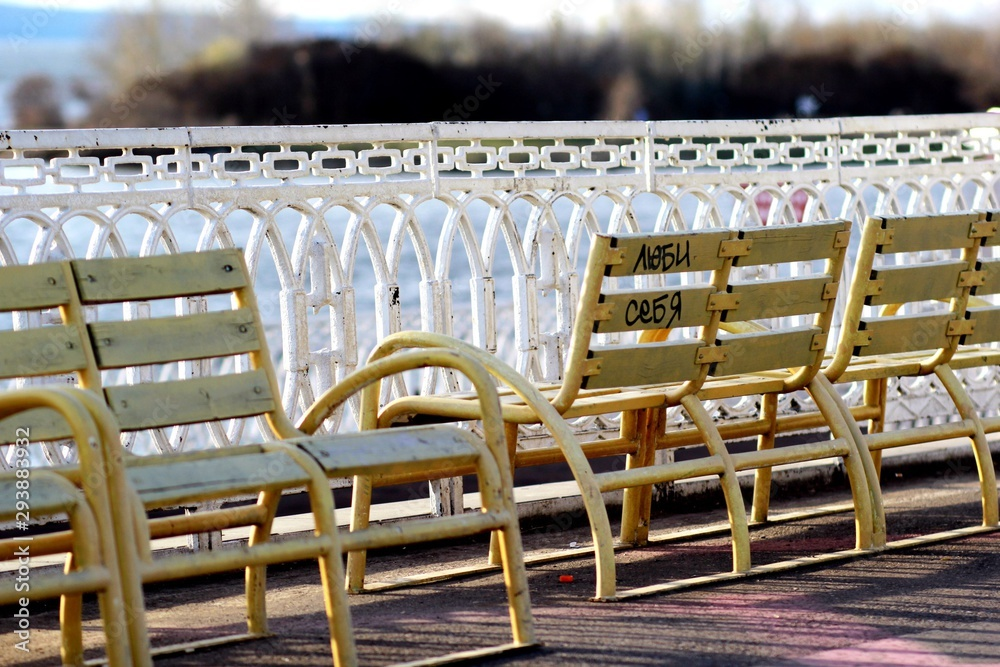 Fototapety, obrazy: empty tables and chairs