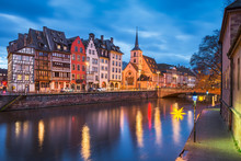 Old Town Of Strasbourg, France...
