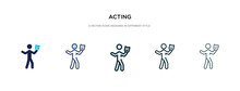 Acting Icon In Different Style...