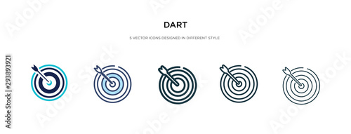 Carta da parati dart icon in different style vector illustration