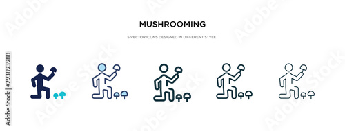 Fototapeta  mushrooming icon in different style vector illustration