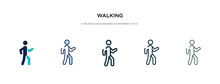 Walking Icon In Different Styl...
