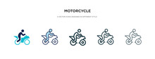 Motorcycle Icon In Different S...