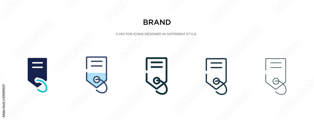 Fototapeta brand icon in different style vector illustration. two colored and black brand vector icons designed in filled, outline, line and stroke style can be used for web, mobile, ui