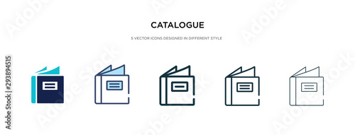 catalogue icon in different style vector illustration Canvas Print