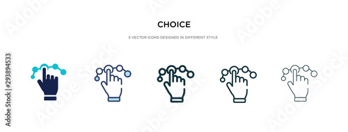 choice icon in different style vector illustration Wallpaper Mural