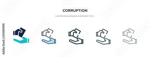 Photo corruption icon in different style vector illustration
