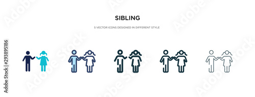 Fototapeta sibling icon in different style vector illustration