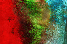 Multi Color Background, Hand-painted Texture