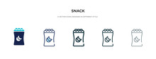 Snack Icon In Different Style ...
