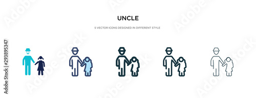 Photo uncle icon in different style vector illustration