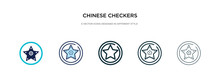 Chinese Checkers Icon In Diffe...