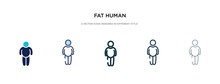 Fat Human Icon In Different St...
