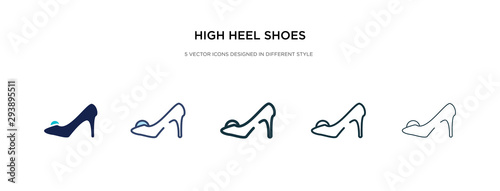 Fotografia high heel shoes icon in different style vector illustration