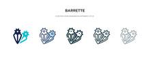 Barrette Icon In Different Sty...
