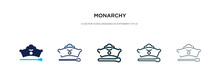 Monarchy Icon In Different Sty...