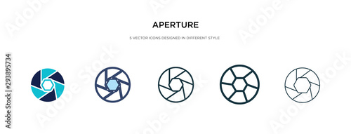 aperture icon in different style vector illustration Canvas Print