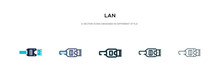 Lan Icon In Different Style Ve...