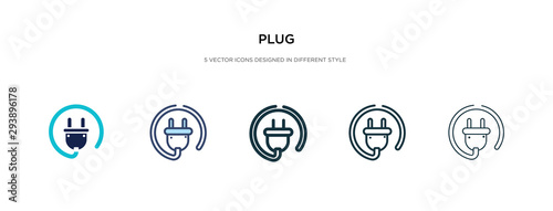 Leinwand Poster plug icon in different style vector illustration