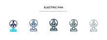 Electric Fan Icon In Different...