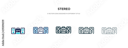 Fotomural stereo icon in different style vector illustration