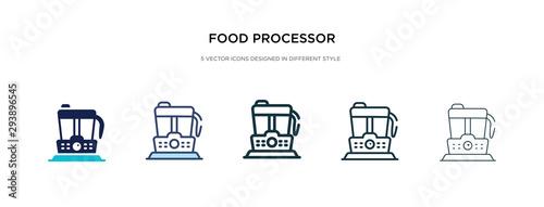 Fotografija food processor icon in different style vector illustration