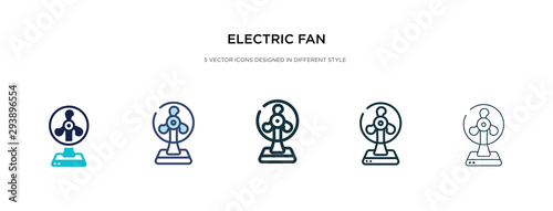 electric fan icon in different style vector illustration Canvas