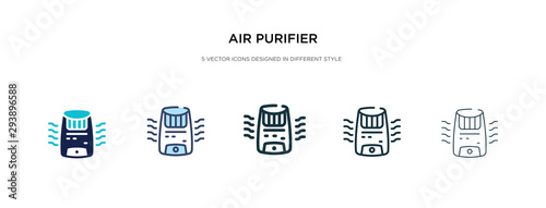 Photo air purifier icon in different style vector illustration