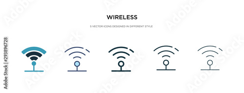 Fotografía  wireless icon in different style vector illustration