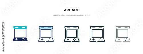 Fotomural arcade icon in different style vector illustration