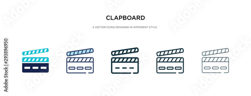 Cuadros en Lienzo clapboard icon in different style vector illustration