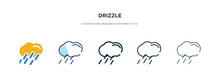 Drizzle Icon In Different Styl...