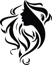 Hair Salon Logo Vector Silhoue...