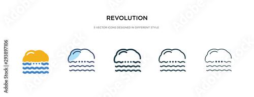 Valokuvatapetti revolution icon in different style vector illustration
